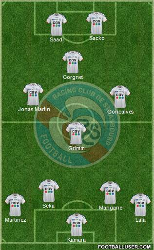 Racing Club de Strasbourg-Football 4-4-2 football formation