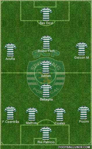 Sporting Clube de Portugal - SAD 4-1-3-2 football formation