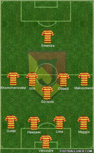 Jagiellonia Bialystok 4-1-4-1 football formation