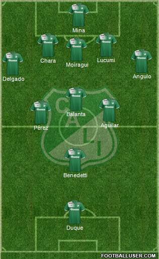 AC Deportivo Cali 3-5-1-1 football formation