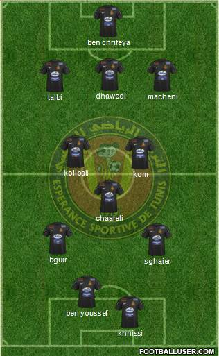 Espérance Sportive de Tunis 3-5-2 football formation