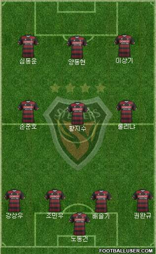 Pohang Steelers 4-1-4-1 football formation