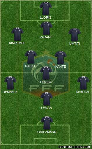 France 4-2-2-2 football formation