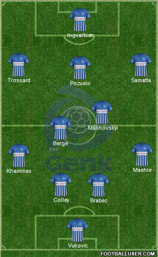 K Racing Club Genk 4-2-3-1 football formation