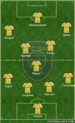 FC Sochaux-Montbéliard 4-3-3 football formation