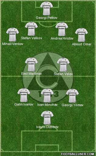 Slavia (Sofia) football formation
