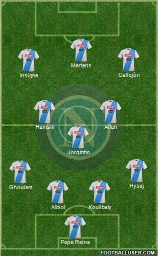 Napoli football formation