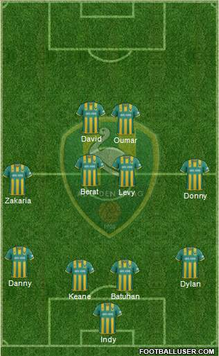 ADO Den Haag 4-4-2 football formation