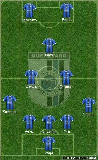 Club de Fútbol Gallos Blancos 5-3-2 football formation