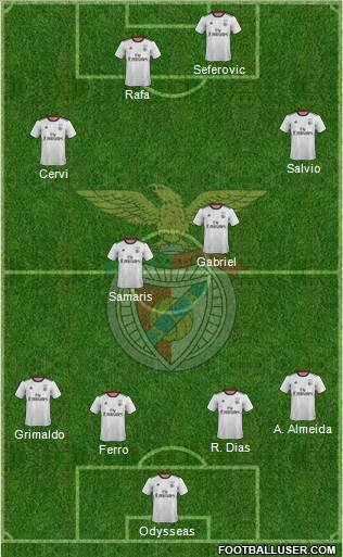 Sport Lisboa e Benfica - SAD 4-1-4-1 football formation