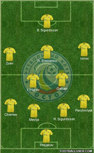 FC Rostov 3-5-2 football formation
