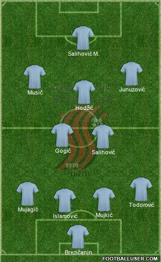 FK Sloboda Tuzla football formation