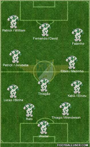 Moreirense Futebol Clube 4-2-2-2 football formation