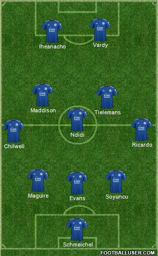 Leicester City football formation