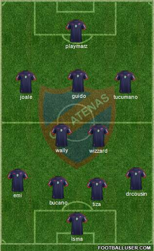 Club Atlético Atenas football formation