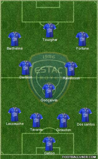 Esperance Sportive Troyes Aube Champagne football formation