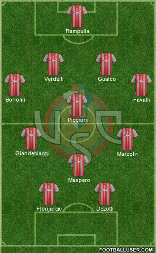 Cremonese football formation