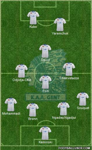 KAA Gent football formation