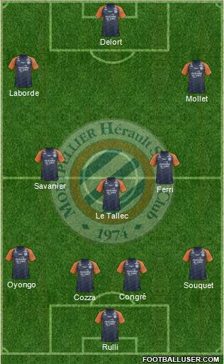 Montpellier Hérault Sport Club football formation