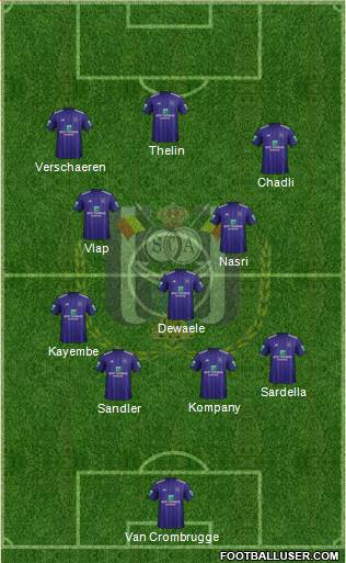 RSC Anderlecht football formation