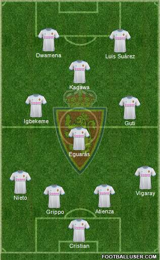 R. Zaragoza S.A.D. football formation