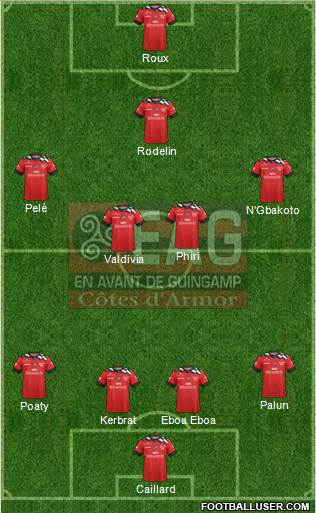 En Avant de Guingamp 4-4-1-1 football formation