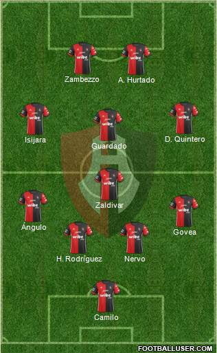 Club Deportivo Atlas 4-1-3-2 football formation
