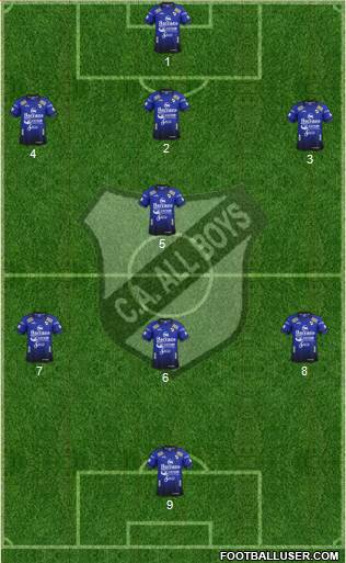 All Boys football formation