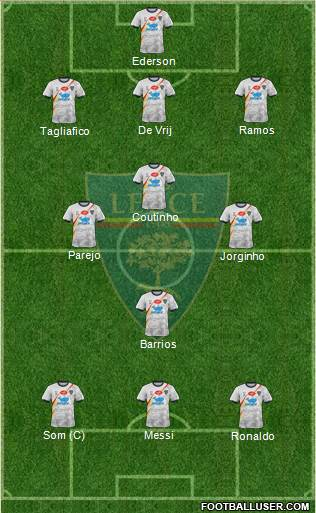 Lecce football formation