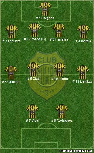 Olimpo de Bahía Blanca football formation