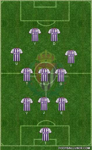 R. Valladolid C.F., S.A.D. 4-1-2-3 football formation