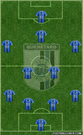 Club de Fútbol Gallos Blancos football formation