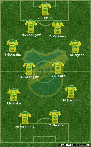 Defensa y Justicia football formation