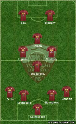 Trapani 4-3-1-2 football formation