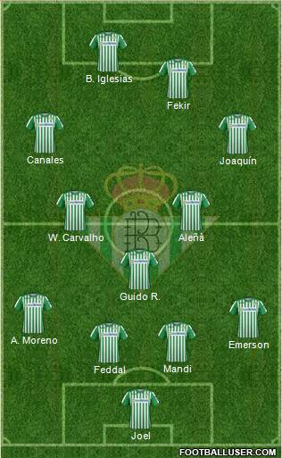 Real Betis B., S.A.D. football formation