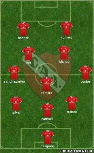 Independiente football formation