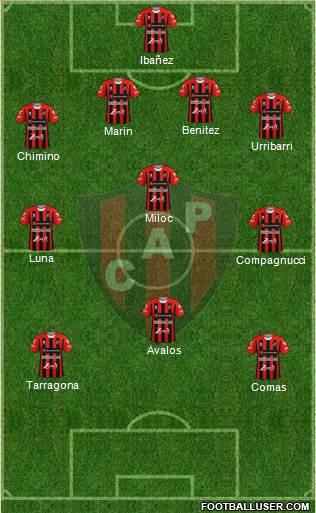 Patronato de Paraná football formation