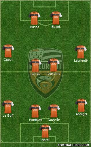 FC Lorient Bretagne Sud football formation