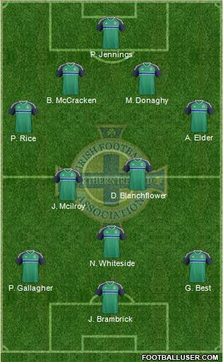 Northern Ireland football formation