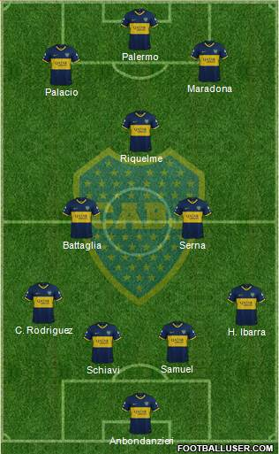 Boca Juniors football formation