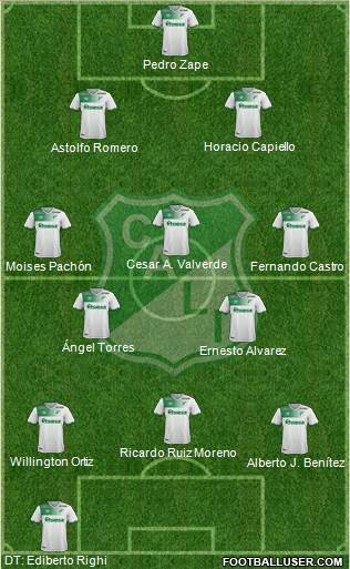 AC Deportivo Cali football formation