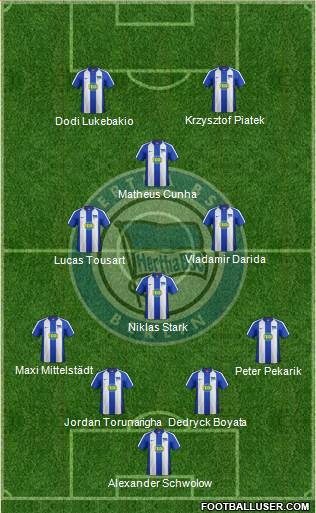 Hertha BSC Berlin football formation