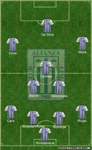 C Alianza Lima football formation
