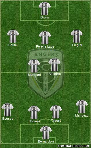 Angers SCO football formation